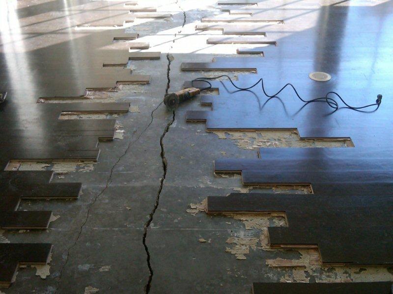 Slab Concrete Crack Filler : Concrete slab under wood floor crack repair roadware