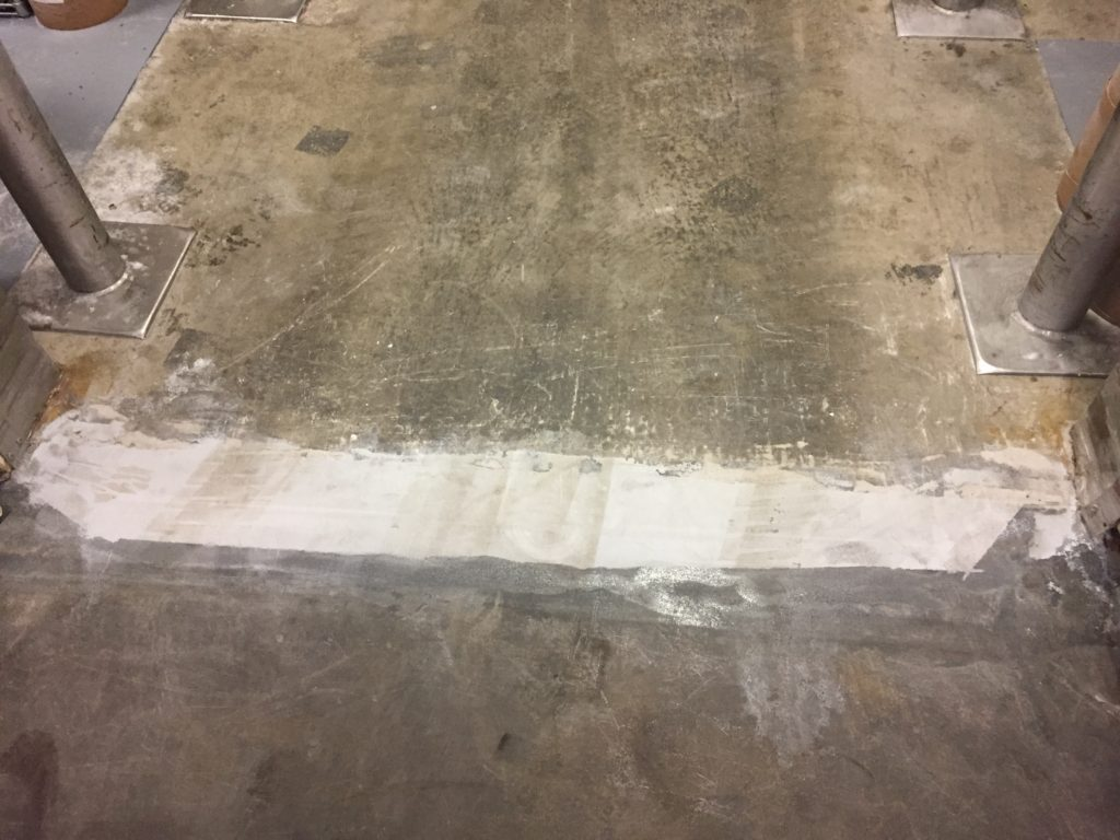 Cold and freezer floor concrete repair roadware incorporated for Concrete freezing