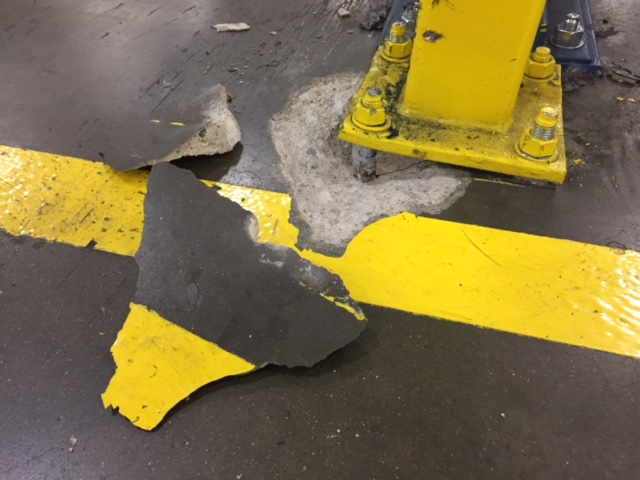 Floor Damage From Forklift Repaired With 10 Minute