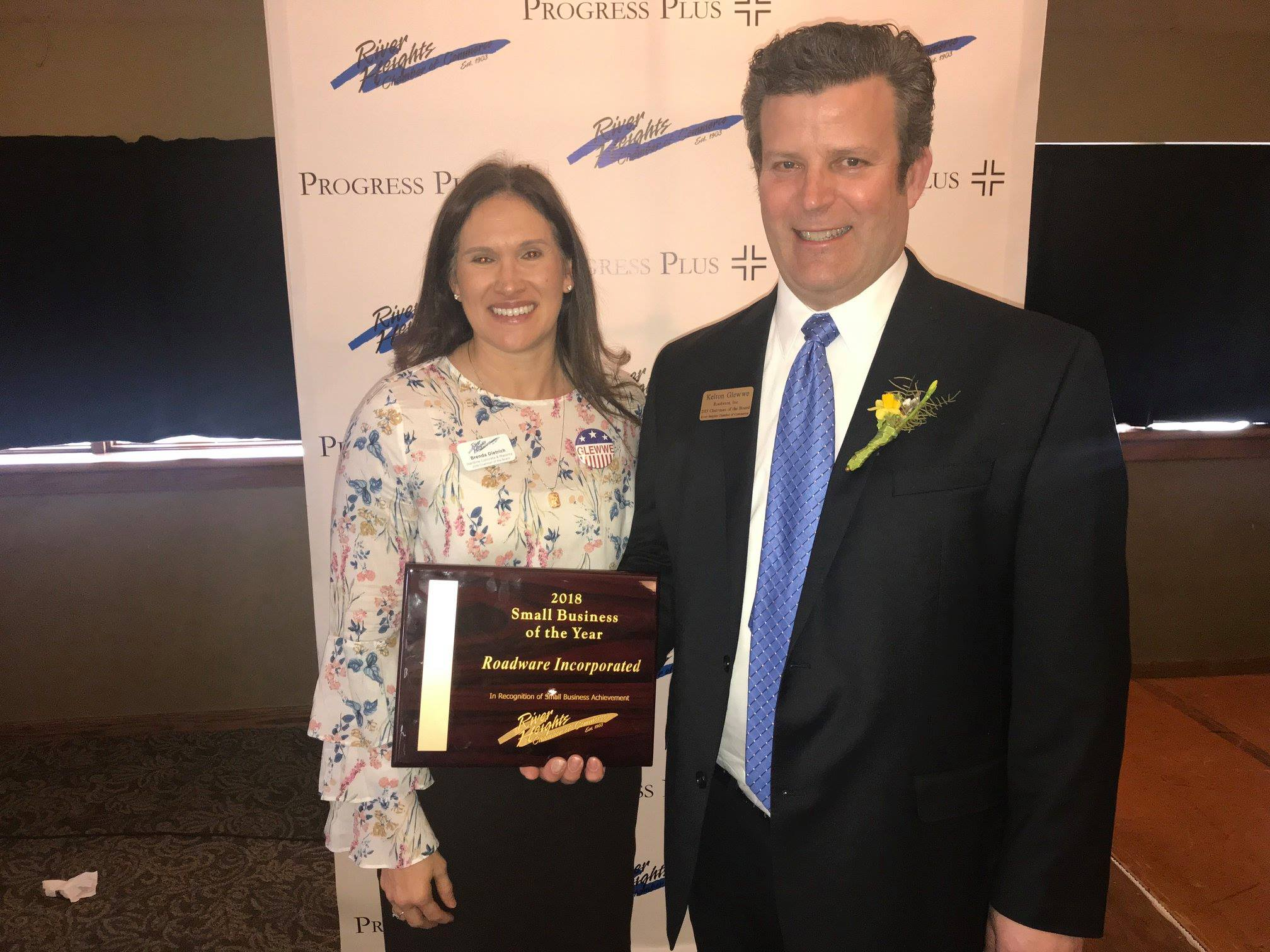 Roadware honored as the 2018 Small Business of the Year by the River Heights Chamber of Commerce.